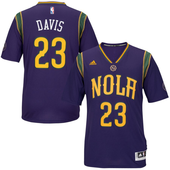 official photos 589e0 7bb66 Anthony Davis New Orleans Pelicans Purple Jersey NWT